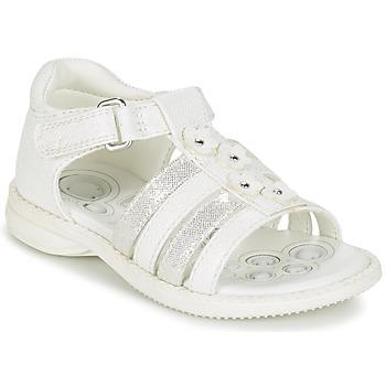 Topánky Dievčatá Sandále Chicco CAROTA Biela / Strieborná