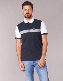 Oblečenie Muži Polokošele s krátkym rukávom Emporio Armani EA7 TENNIS CLASSIC Námornícka modrá / Biela