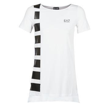 Oblečenie Ženy Tuniky Emporio Armani EA7 TRAIN MASTER Biela / čierna