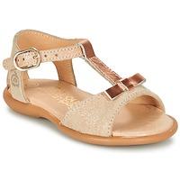 Topánky Dievčatá Sandále Citrouille et Compagnie GUGULE Zlatá