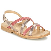 Topánky Dievčatá Sandále Citrouille et Compagnie GENTOU Ružová / Strieborná
