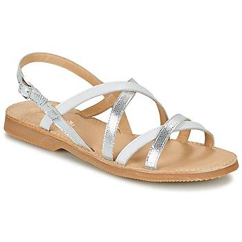 Topánky Dievčatá Sandále Citrouille et Compagnie GENTOU Biela / Strieborná
