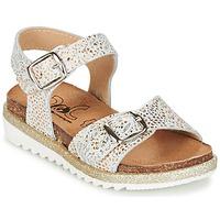 Topánky Dievčatá Sandále Citrouille et Compagnie GUAFRETTE Zlatá / Biela