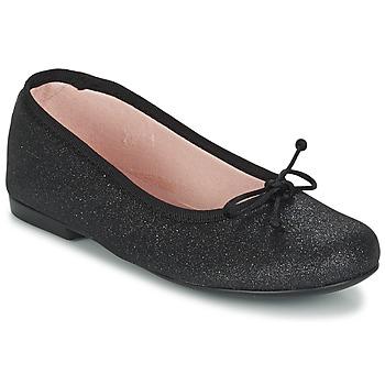 Topánky Dievčatá Balerínky a babies Citrouille et Compagnie GLIGLO čierna / Trblietkavá