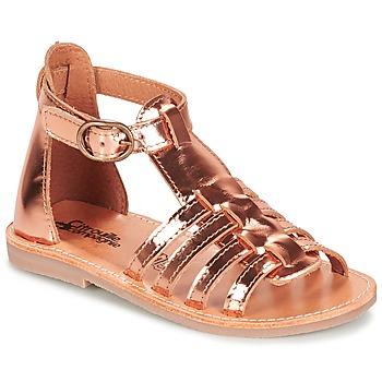 Topánky Dievčatá Sandále Citrouille et Compagnie JASMA Medená