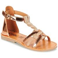 Topánky Dievčatá Sandále Citrouille et Compagnie GITANOLO Béžová / Medená