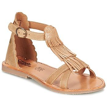 Topánky Dievčatá Sandále Citrouille et Compagnie GAMELA Ťavia hnedá