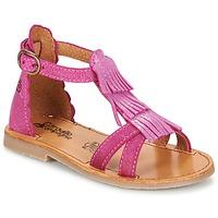 Topánky Dievčatá Sandále Citrouille et Compagnie GAMELA Ružová