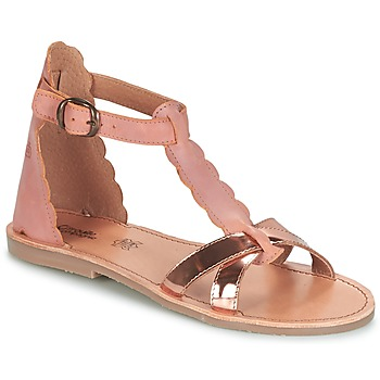 Topánky Dievčatá Sandále Citrouille et Compagnie GUBUDU Ružová / Zlatá
