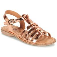 Topánky Dievčatá Sandále Citrouille et Compagnie GROUFLA Bronzová