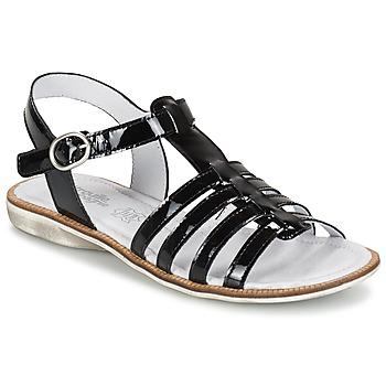 Topánky Dievčatá Sandále Citrouille et Compagnie GROUFLA čierna