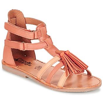 Topánky Dievčatá Sandále Citrouille et Compagnie GOFARO Broskyňová
