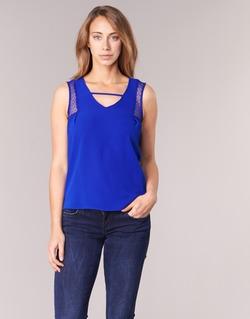 Oblečenie Ženy Tielka a tričká bez rukávov Naf Naf OPIPA Modrá