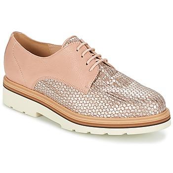 Topánky Ženy Derbie Fericelli GRATY Ružová / Svetlá telová