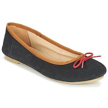 Topánky Ženy Balerínky a babies Kickers BAIE čierna / červená