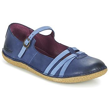 Topánky Ženy Balerínky a babies Kickers HIBOU Námornícka modrá