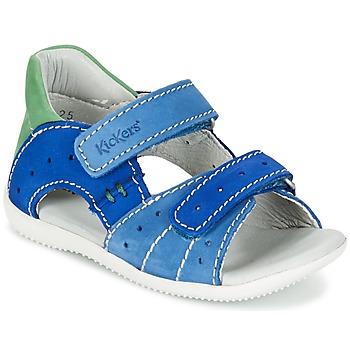 Topánky Chlapci Sandále Kickers BOPING Modrá / Zelená