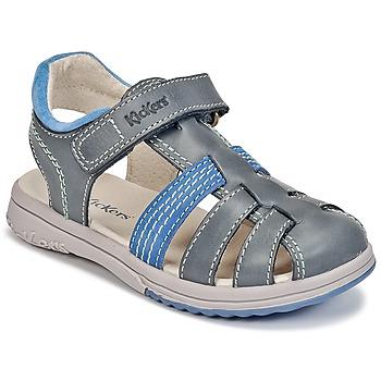Topánky Chlapci Sandále Kickers PLATINIUM Modrá / Dark / Modrá