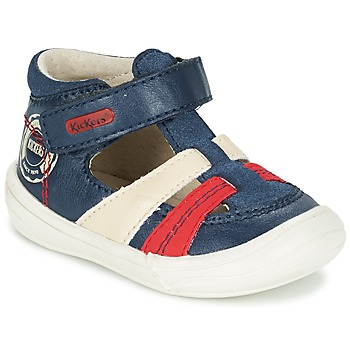 Topánky Chlapci Sandále Kickers ZOHAN Námornícka modrá / Červená