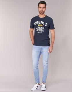 Oblečenie Muži Džínsy Slim Jack & Jones LIAM JEANS INTELLIGENCE Modrá / Clear