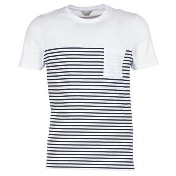 Oblečenie Muži Tričká s krátkym rukávom Jack & Jones APRIL CORE Biela / Námornícka modrá
