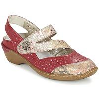 Topánky Ženy Sandále Rieker KOLIPEDI červená / Zlatá