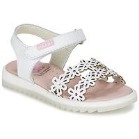 Topánky Dievčatá Sandále Pablosky COULOIME Biela