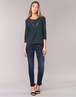 Oblečenie Ženy Džínsy Slim Freeman T.Porter ALEXA SLIM SDM Modrá / Dark