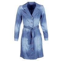 Oblečenie Ženy Kabátiky Trenchcoat Cream DENIM TRENCHCOAT Denim