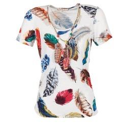 Oblečenie Ženy Tričká s krátkym rukávom Derhy JACQUOT Biela / Viacfarebná
