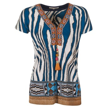 Oblečenie Ženy Tričká s krátkym rukávom Derhy JAQUERIE Modrá