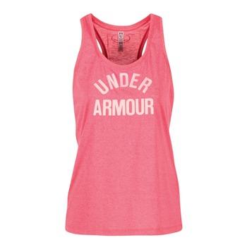 Oblečenie Ženy Tielka a tričká bez rukávov Under Armour THREADBORNET TWIST GRAPHIC Ružová