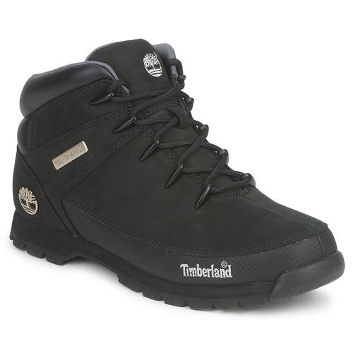 Topánky Muži Polokozačky Timberland EURO SPRINT HIKER Čierna