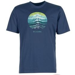 Oblečenie Muži Tričká s krátkym rukávom Columbia CSC MOUNTAIN SUNSET Modrá