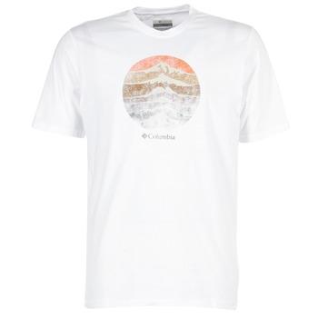 Oblečenie Muži Tričká s krátkym rukávom Columbia CSC MOUNTAIN SUNSET Biela