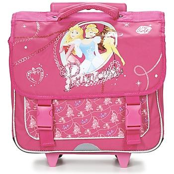 Tašky Dievčatá Tašky a aktovky na kolieskach Disney PRINCESSES CARTABLE TROLLEY 38CM Ružová