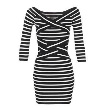 Oblečenie Ženy Krátke šaty Morgan RBEST čierna / Krémová