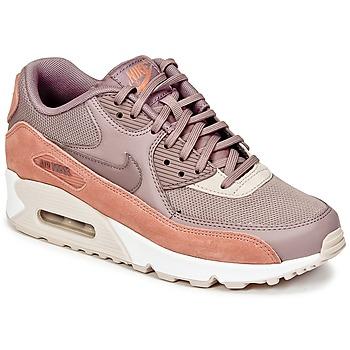 Topánky Ženy Nízke tenisky Nike AIR MAX 90 W Hnedošedá / Ružová