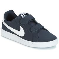 Topánky Chlapci Nízke tenisky Nike COURT ROYALE PRESCHOOL Modrá / Biela