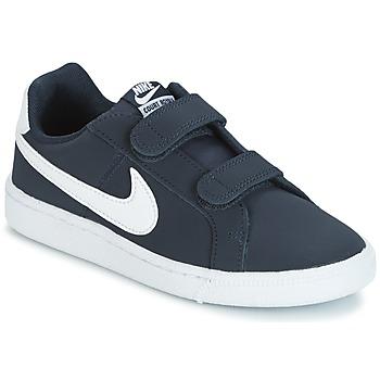 Topánky Deti Nízke tenisky Nike COURT ROYALE PRESCHOOL Modrá / Biela