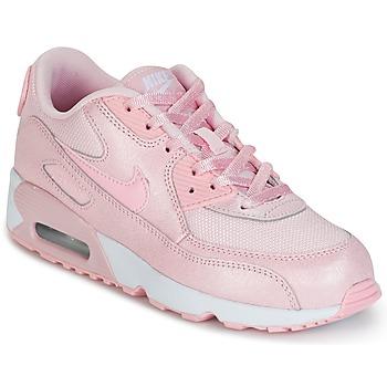 Topánky Dievčatá Nízke tenisky Nike AIR MAX 90 MESH SE PRESCHOOL Ružová