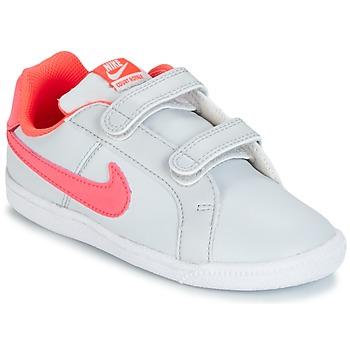 Topánky Dievčatá Nízke tenisky Nike COURT ROYALE TODDLER šedá / Ružová