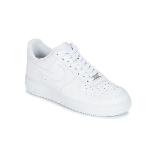 18e54819b2 Topánky Muži Nízke tenisky Nike AIR FORCE 1 07 Biela