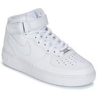 Topánky Muži Členkové tenisky Nike AIR FORCE 1 MID 07 LEATHER Biela