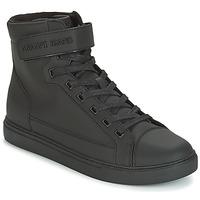 Topánky Muži Členkové tenisky Armani jeans JEFEM čierna