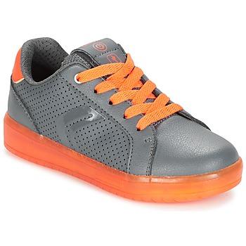 Topánky Chlapci Nízke tenisky Geox J KOMMODOR B.B šedá / Oranžová
