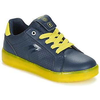 Topánky Chlapci Nízke tenisky Geox J KOMMODOR B.B Námornícka modrá / žltá