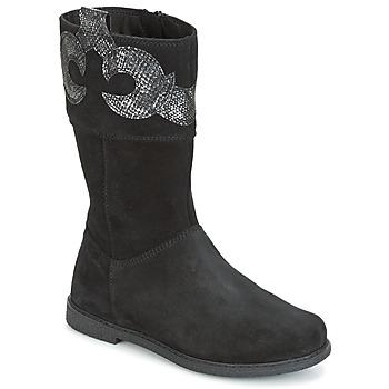 Topánky Dievčatá Čižmy do mesta Geox J SHAWNTEL G. C čierna