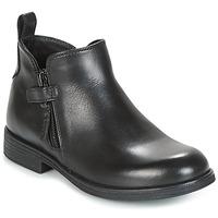 Topánky Dievčatá Polokozačky Geox J AGATA C Čierna