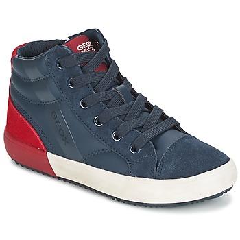 Topánky Chlapci Členkové tenisky Geox J ALONISSO B. A Námornícka modrá / Červená